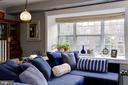 Bay window w/window seat & custom shade - 3802 PORTER ST NW #301, WASHINGTON