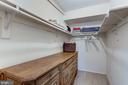 Huge walk-in closet - 3802 PORTER ST NW #301, WASHINGTON