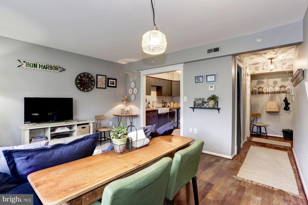 Living room/Dining area - 3802 PORTER ST NW #301, WASHINGTON