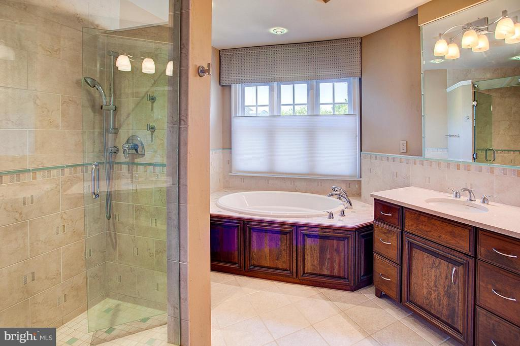 Gorgeous Master bath - 18310 FAIRWAY OAKS SQ, LEESBURG