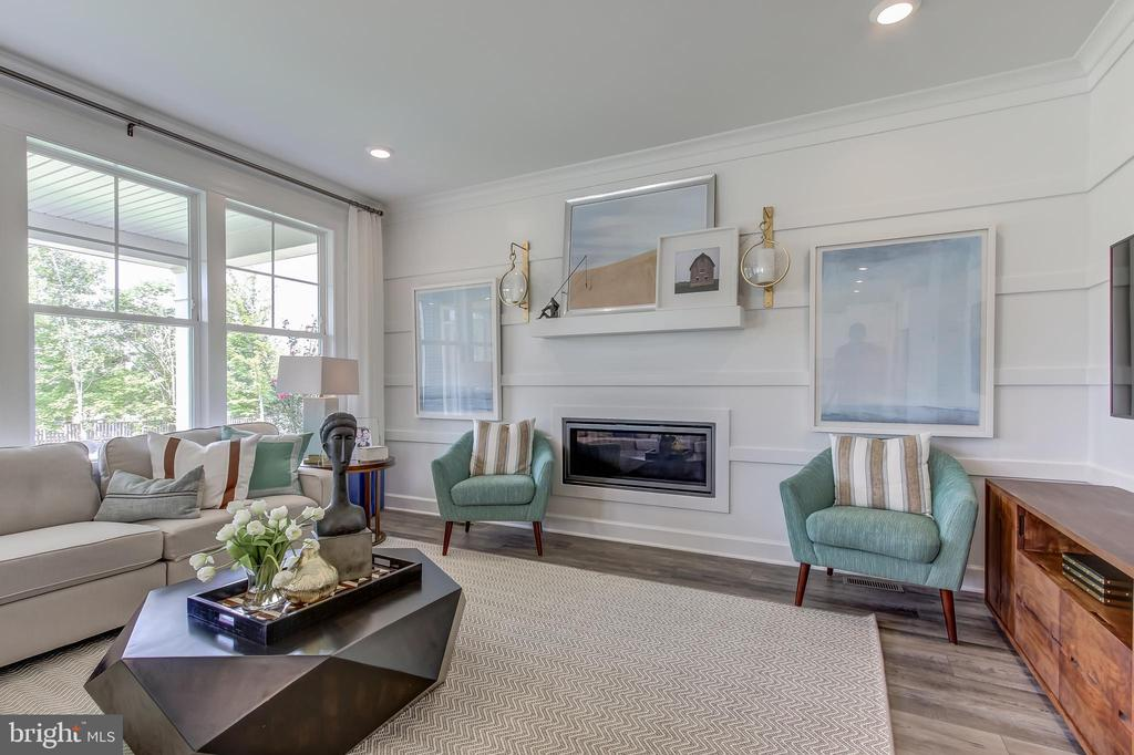 Lorton Model Family Room with Fireplace - 9502-A SANGER ST, LORTON