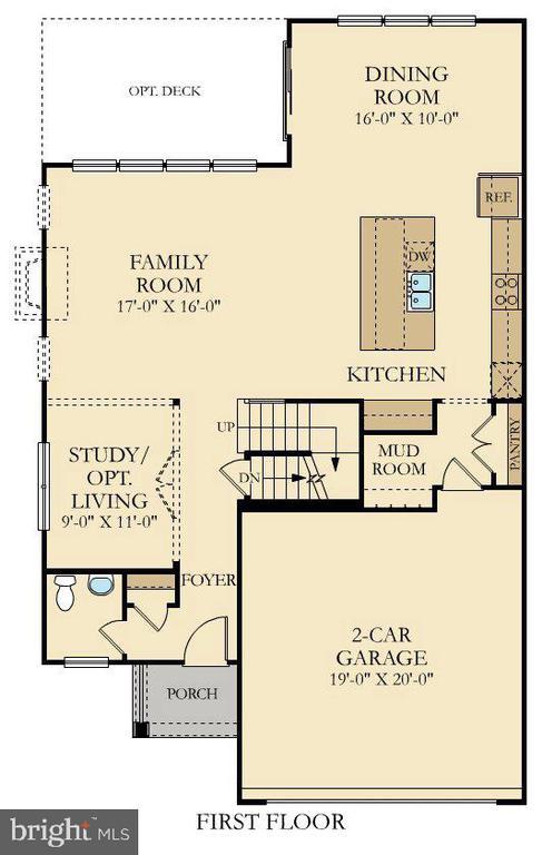 Cumbria Floor Plan Main Level - 9502-A SANGER ST, LORTON