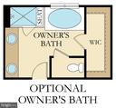 Cumbria Floor Plan Opt Owner's Bath - 9502-A SANGER ST, LORTON