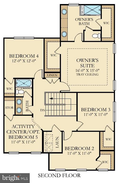 Cumbria Floor Plan Upper Level - 9502-A SANGER ST, LORTON