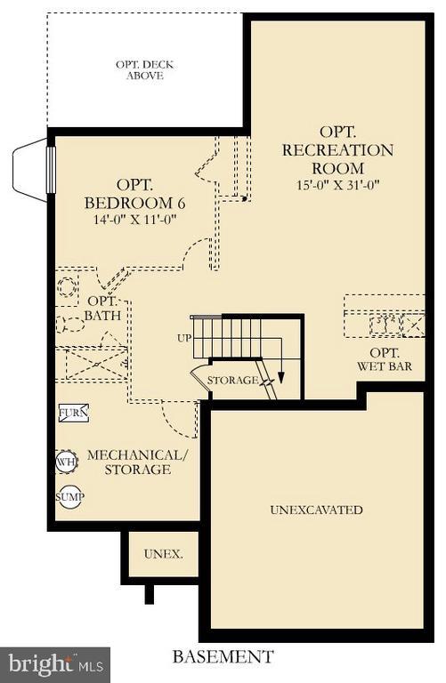 Cumbria Floor Plan Lower Level - 9502-A SANGER ST, LORTON