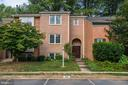 Front view with parking space - 2018 HIGHBORO WAY, FALLS CHURCH