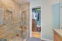 Renovated, award-winning master bath - 478 FOXRIDGE DR SW, LEESBURG
