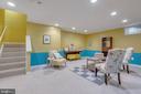 Basement rec room - 478 FOXRIDGE DR SW, LEESBURG