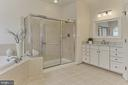 Oversized Shower + Gorgeous NEW Marble Counters - 22478 PINE TOP CT, ASHBURN