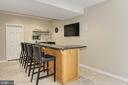 Oversized Entertainers Bar w/ Appliances - 22478 PINE TOP CT, ASHBURN