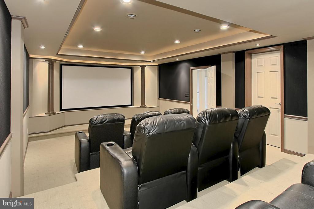 Custom Theatre Room is UNBELIEVABLE!!! - 22478 PINE TOP CT, ASHBURN