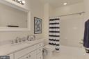 Full Bathroom #4 w/ NEW Quartz Counter + Faucet - 22478 PINE TOP CT, ASHBURN
