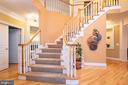 Entry hall/main staircase - 11624 CEDAR CHASE RD, HERNDON
