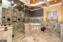 Lower level  custom bathroom - 11624 CEDAR CHASE RD, HERNDON