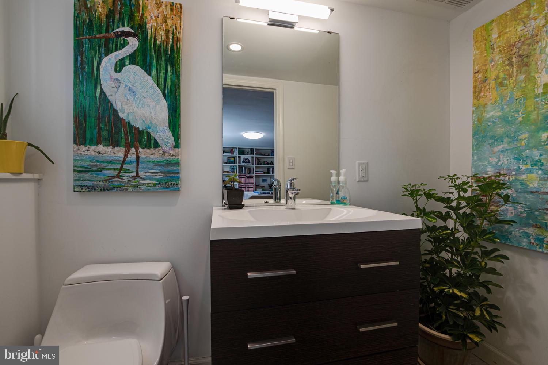 Half Bath in Lower Level