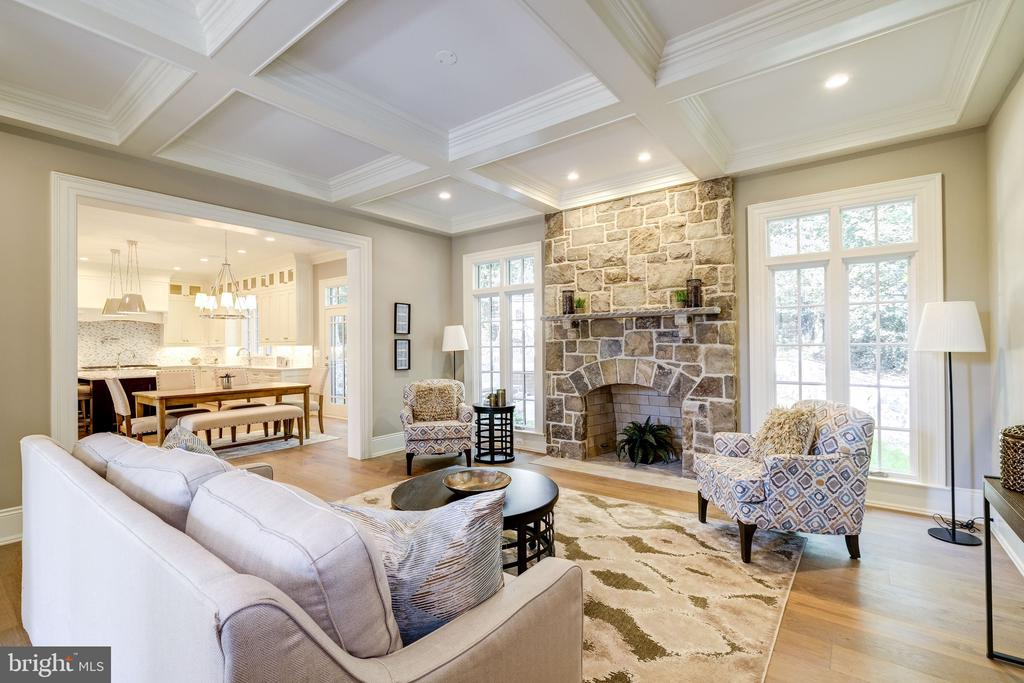 Gorgeous Family Room with Stone Fireplace - 3200 N ABINGDON ST, ARLINGTON