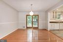 Dining Room with Hardwood Floors & Chandelier - 5120 THACKERY CT, FAIRFAX