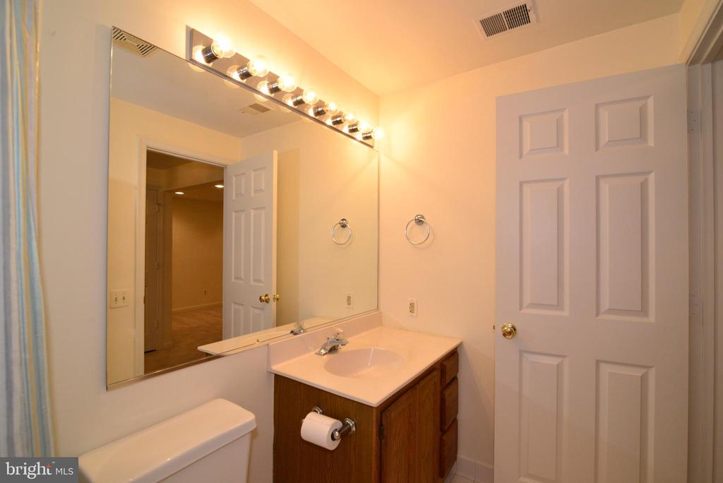Lower level full bath - 43854 LABURNUM SQ, ASHBURN