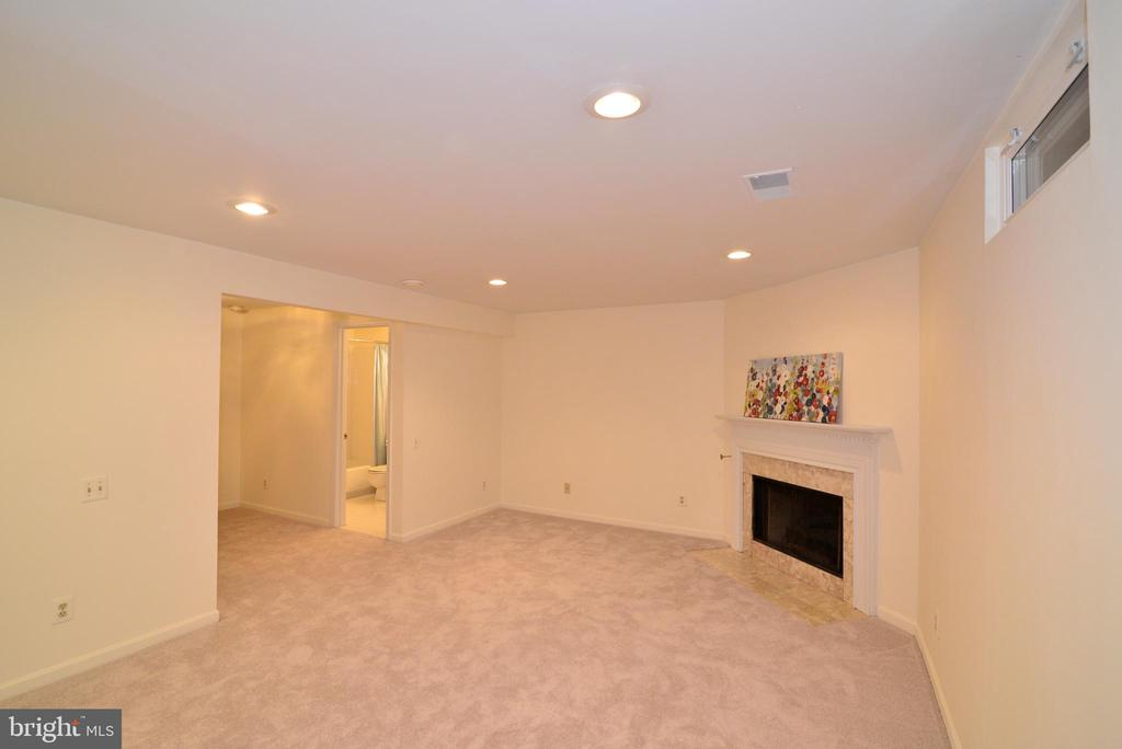 Lower level rec room with full bath - 43854 LABURNUM SQ, ASHBURN