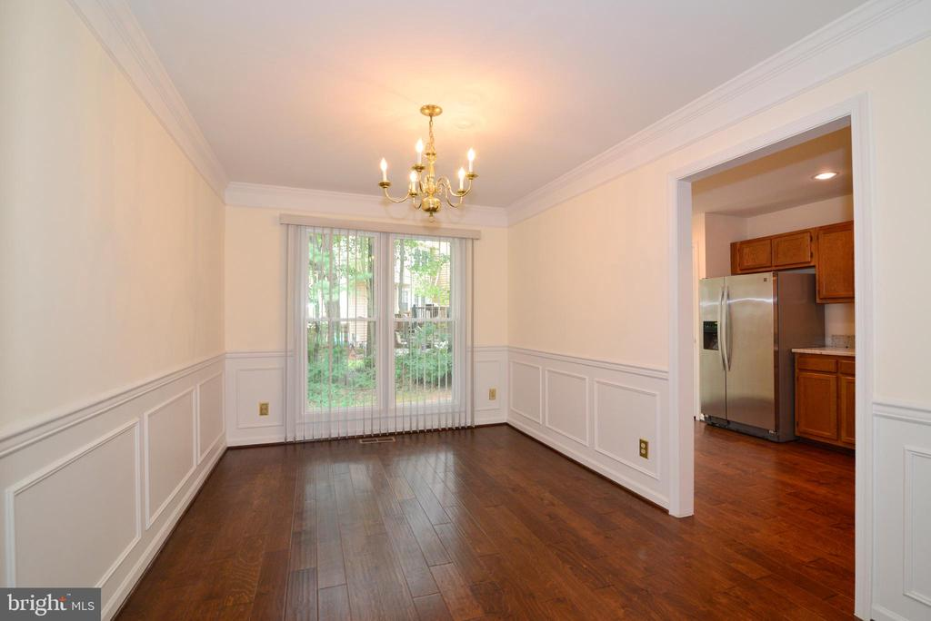 Gleaming hardwood floors in Dining room - 43854 LABURNUM SQ, ASHBURN