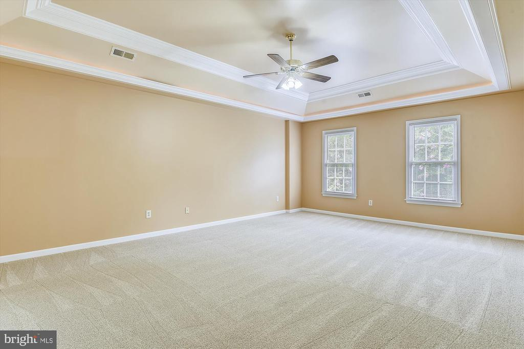 Master Bedroom with Tray Ceiling - 6540 MANET CT, WOODBRIDGE