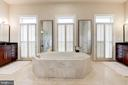 Bright master bathroom w/his and her sinks - 1419 N NASH ST, ARLINGTON
