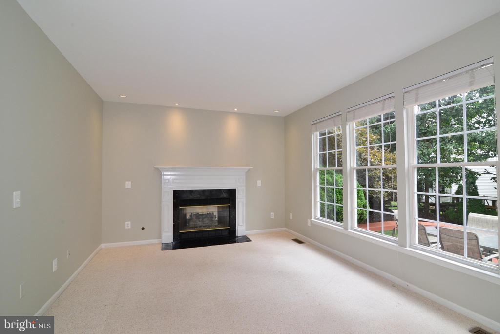 Family Room w gas fireplace - 43937 FELICITY PL, ASHBURN
