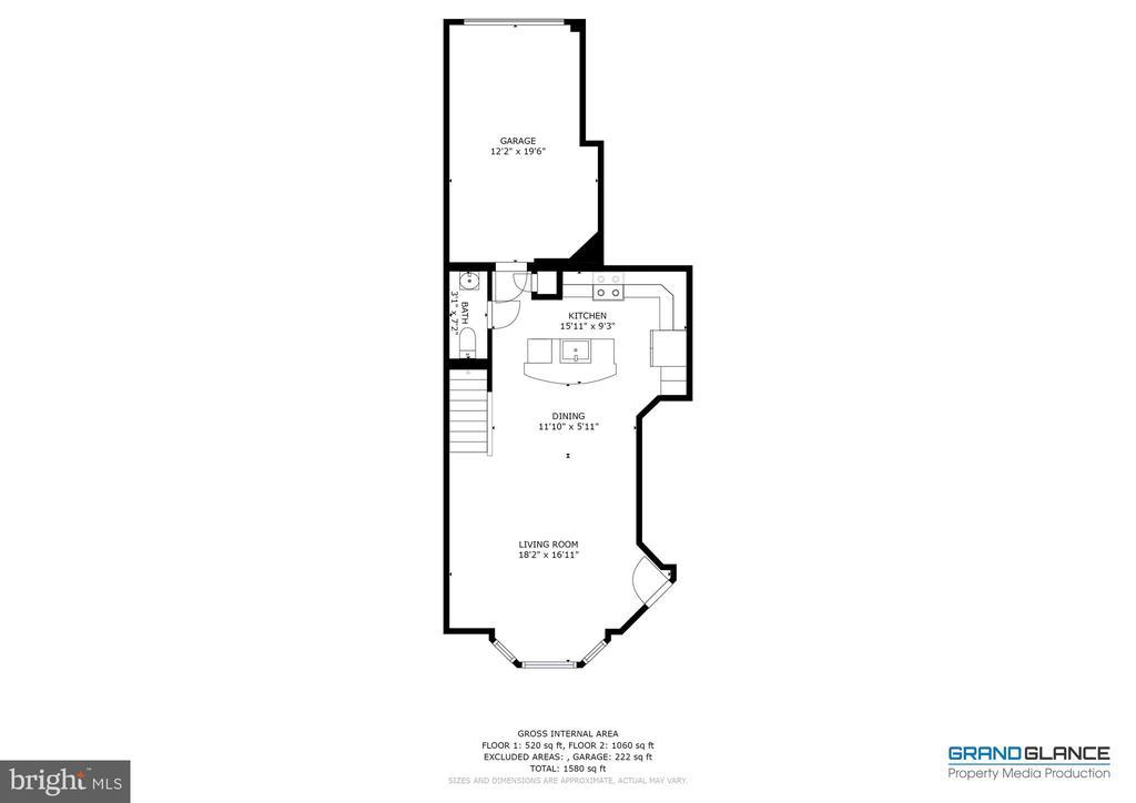 Floorplan - main level - 42231 PIEBALD SQ, ALDIE