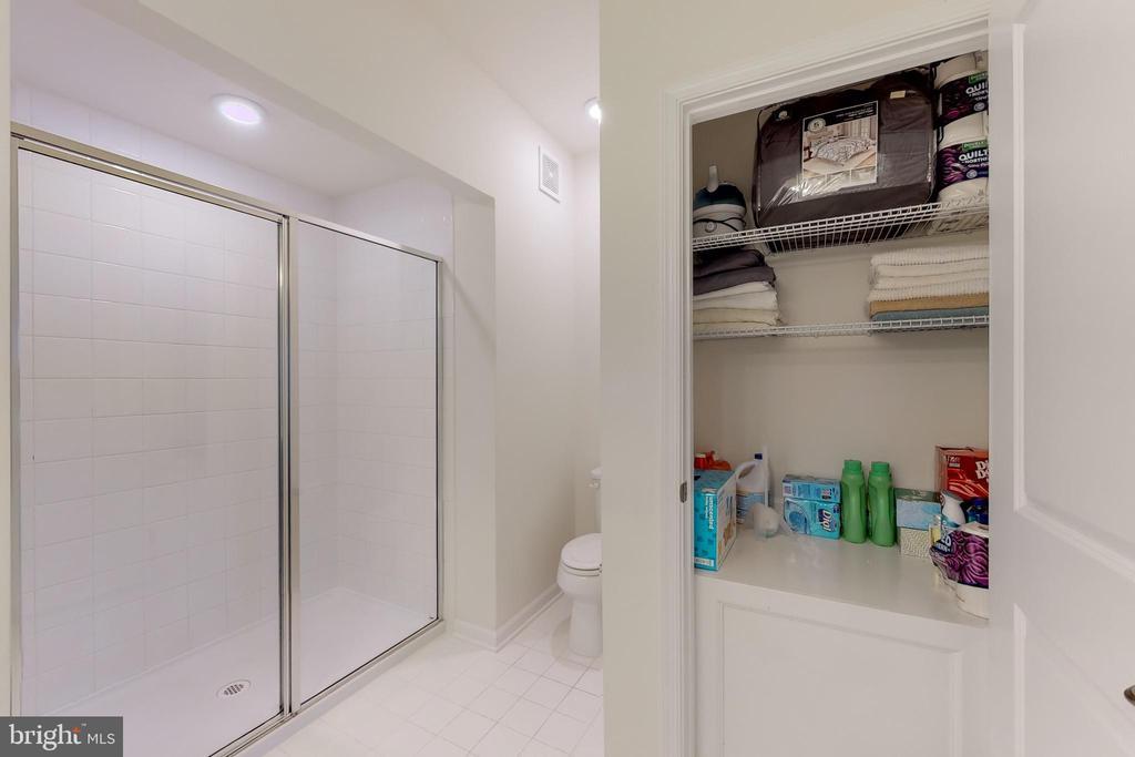 Master bath with linen / storage closet - 42231 PIEBALD SQ, ALDIE