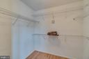 Master bedroom walk in closet - 9341 BIRCH CLIFF DR, FREDERICKSBURG