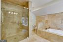Separate tub And shower in master bath - 12001 SUGARLAND VALLEY DR, HERNDON