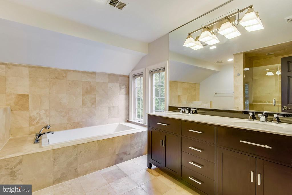 Stone floors in the master bath - 12001 SUGARLAND VALLEY DR, HERNDON