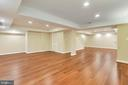 Super nice size recreation room - 12001 SUGARLAND VALLEY DR, HERNDON