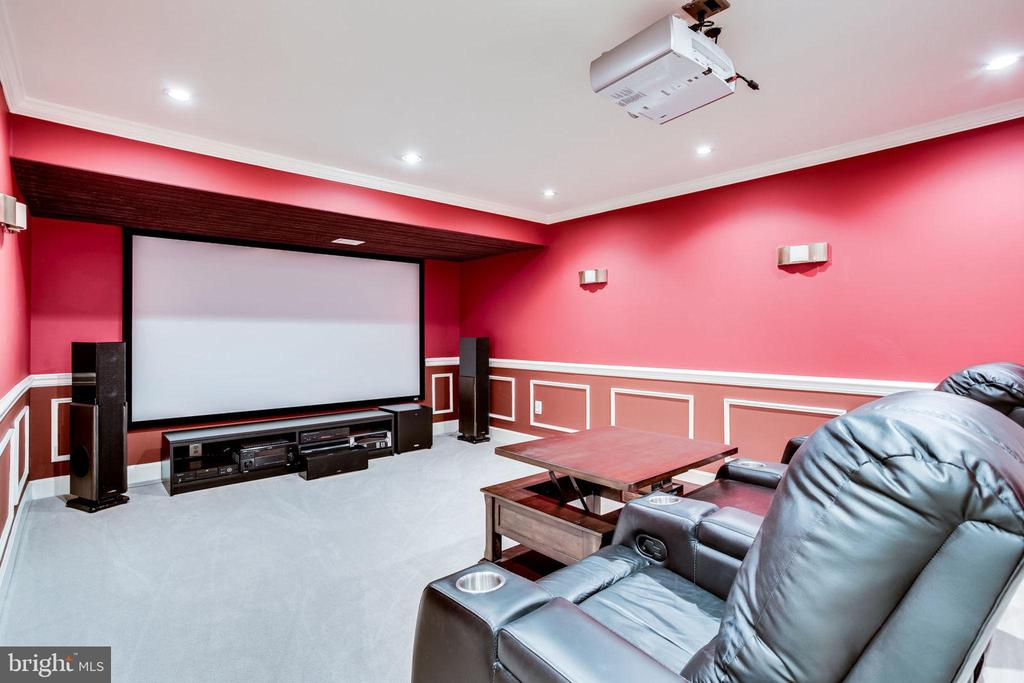 Basement - Theater (only projector convey) - 13804 FOGGY HILLS CT, CLIFTON