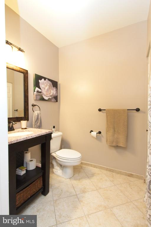 The second bathroom also has a granite top - 1855 STRATFORD PARK PL #309, RESTON