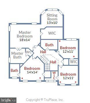 Floor Plan Upper Level - 22077 HIGHVIEW TRAIL PL, BROADLANDS