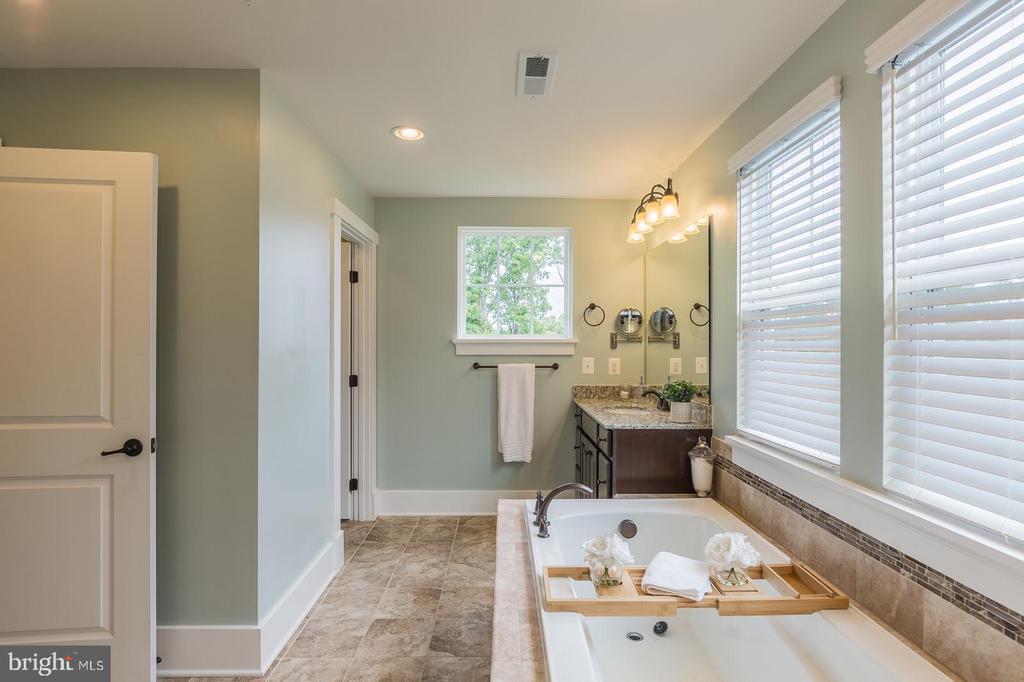 Master Bath has a soaking tub & shower - 16960 TAKEAWAY LN, DUMFRIES