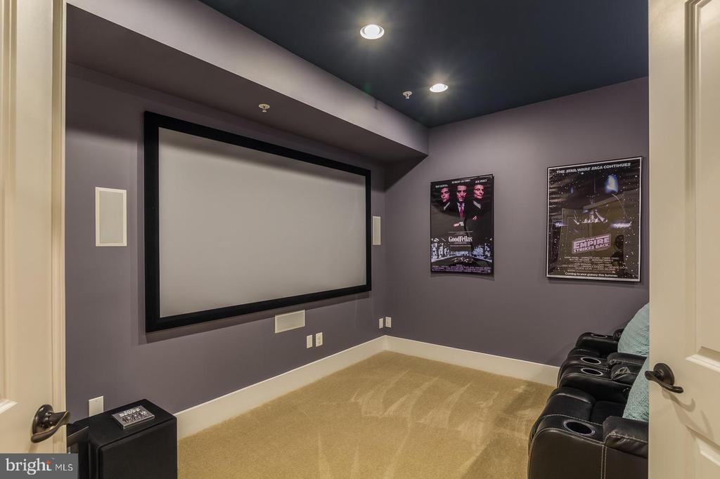 A fully equipped media room awaits. - 16960 TAKEAWAY LN, DUMFRIES