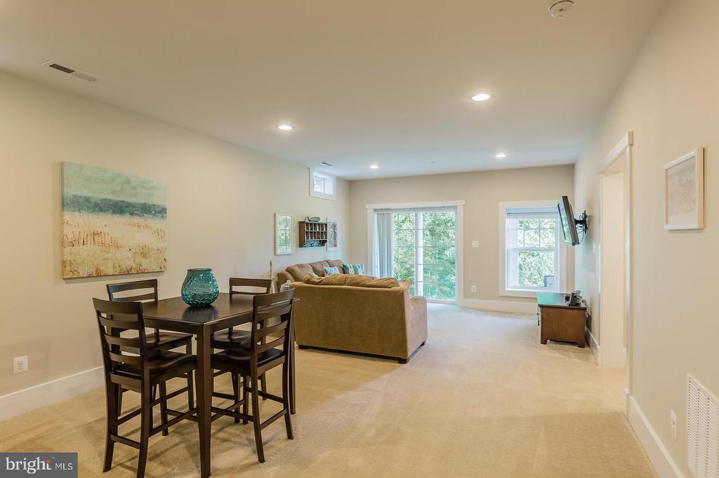 Walkout basement to patio - 16960 TAKEAWAY LN, DUMFRIES