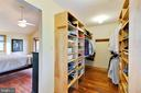 Large walk in closet with built ins - 2514 POFFENBERGER RD, MIDDLETOWN