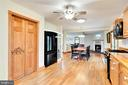 Dining area leading to large open living room - 2514 POFFENBERGER RD, MIDDLETOWN
