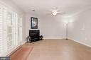 Lower Level Gas Fireplace - 2452 LAURA MARK LN, HERNDON