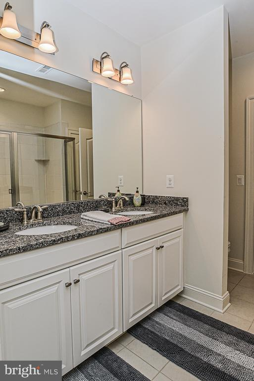 Lower level Jack & Jill full bath. - 23059 WELBOURNE WALK CT, ASHBURN