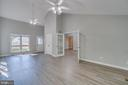 VIEW FROM LIVING ROOM TO SUNROOM - 3008 AQUIA DR, STAFFORD