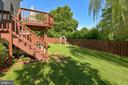 Private backyard backing to parkland. - 208 GRAFTON WAY NE, LEESBURG