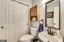 Powder room on main level - 208 GRAFTON WAY NE, LEESBURG