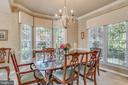 Formal Dining Room Bay Window & Crown & Chair Trim - 20650 SETTLERS POINT PL, STERLING