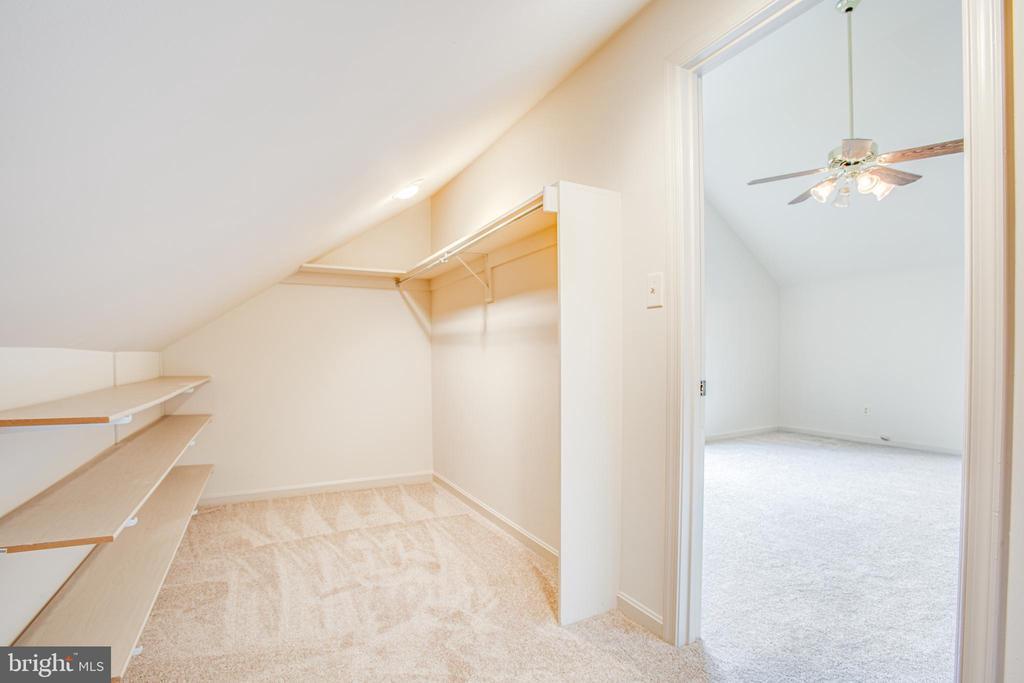 Fantastic Walk-in Closet in Bonus room - 6227 SWEETBRIAR DR, FREDERICKSBURG