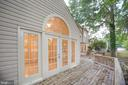 Sunroom French Doors Open Onto Wrap Deck - 6227 SWEETBRIAR DR, FREDERICKSBURG