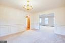 Chair & Crown Molding with Wainscoting - 6227 SWEETBRIAR DR, FREDERICKSBURG